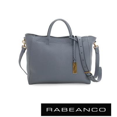 RABEANCO 迷時尚系列優雅兩用小手提包(大) - 藍灰