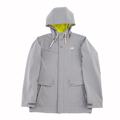 KAPPA義大利三層貼合休閒外套~新中灰-岩草綠
