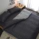 絲薇諾-207織精梳棉-換日線-黑色-薄被套床包組