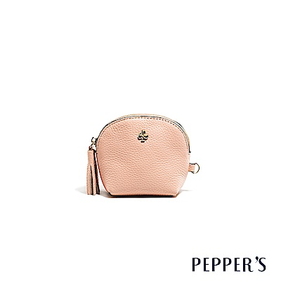 PEPPER`S Doris 牛皮貝殼零錢鑰匙包 - 玫瑰粉