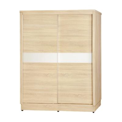 AS-卡特5尺原切橡木三拉衣櫃-147x59.5x203cm