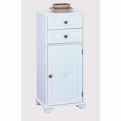 英倫玫瑰單門二抽櫃-白色