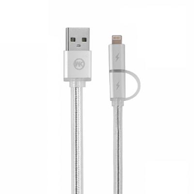WK香港潮 IOS / Mirco USB WDC 017彈簧充電線1.5M