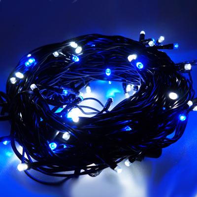 LED燈串-100燈樹燈串 (藍白光)(附控制器)(高亮度又省電)