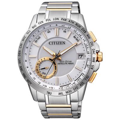CITIZEN F-150光動能GPS衛星對時錶(CC3006-58A)-銀/44.5mm