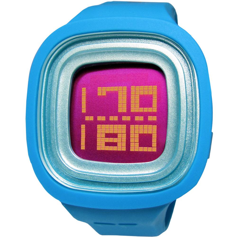 Paul Frank搖滾繽紛跳動液晶矽膠腕錶-紅x藍色46mm