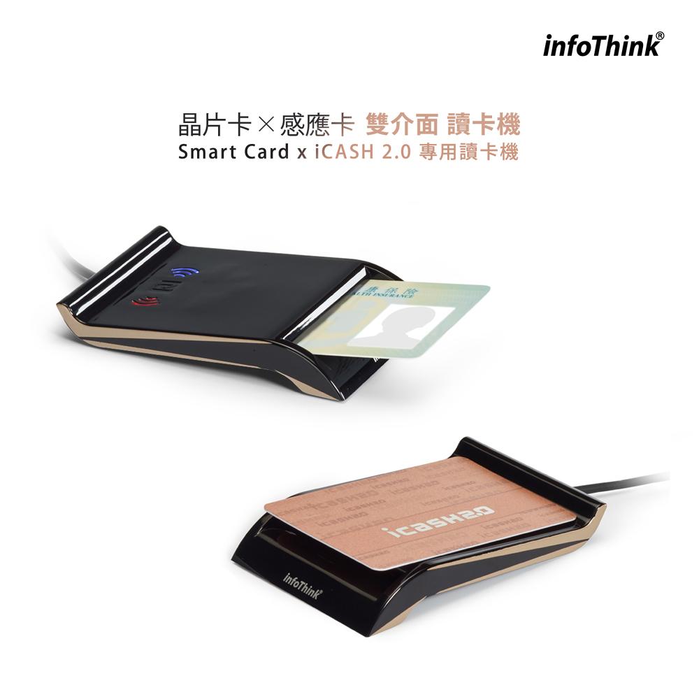 InfoThinkIT-102MU晶片卡X感應卡雙介面讀卡機