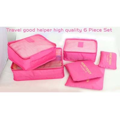 TA1601 PK粉紅  6件式韓版-加厚/細網/旅行收納袋/整理包