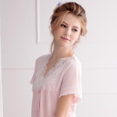 羅絲美睡衣-花仙子短袖褲裝睡衣-浪漫粉
