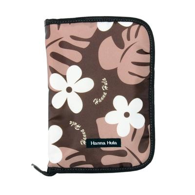 日本Hanna Hula-多用途手冊包-親子手冊/健保卡等(花葉咖)