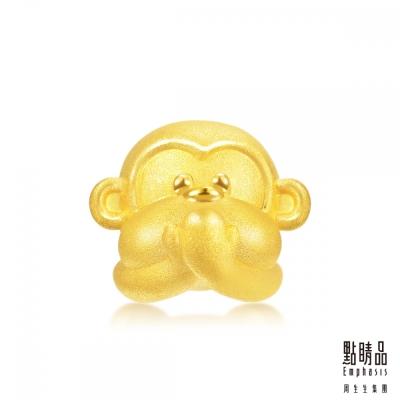 點睛品 Charme 非禮勿言黃金猴 黃金串珠