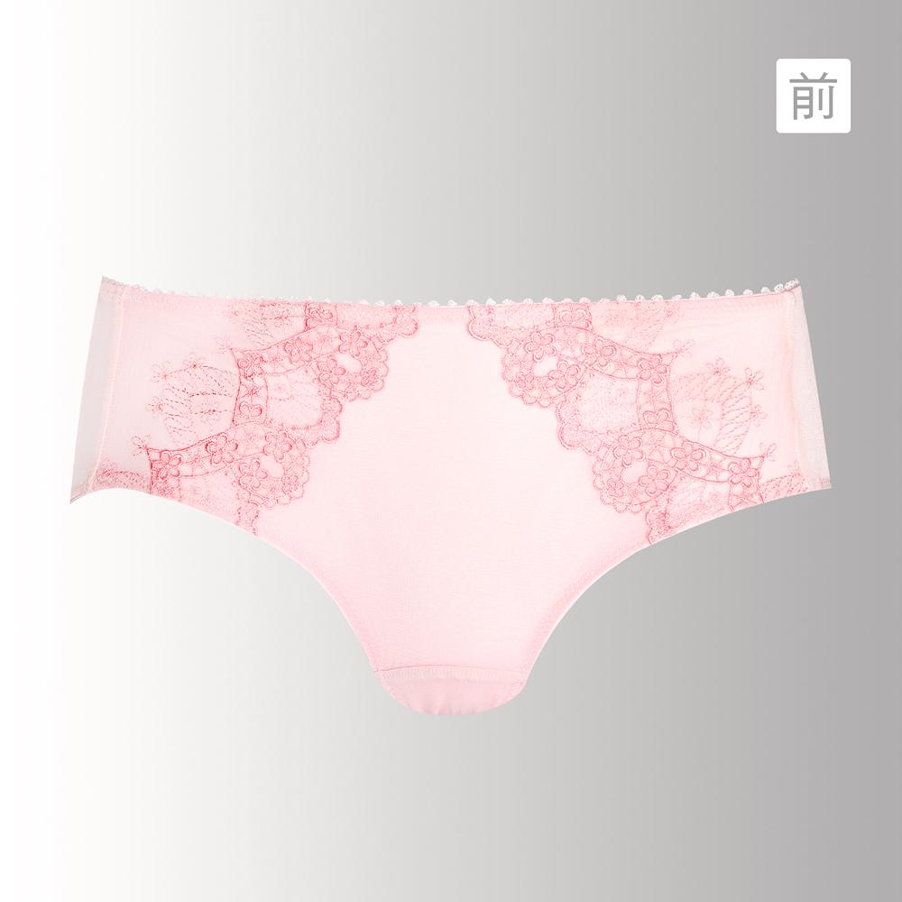 蕾黛絲-花舞柔情真水平口內褲 M-L(甜美粉)