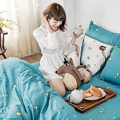 戀家小舖 / 單人床包枕套組  迷路漂流日記  100%精梳棉  台灣製