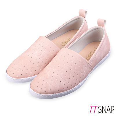 TTSNAP懶人鞋-MIT輕巧透氣洞洞休閒鞋 粉