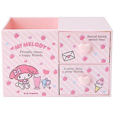 Sanrio 美樂蒂桌上型ABS塑膠筆筒與置物盒(草莓甜點)