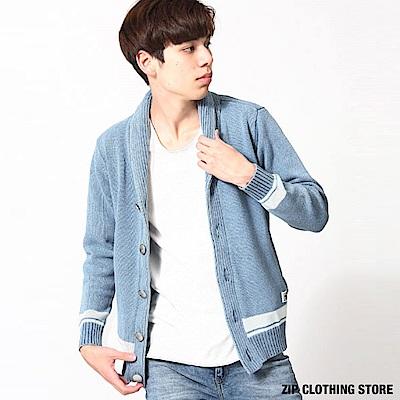 針織開襟外套(2色) ZIP日本男裝