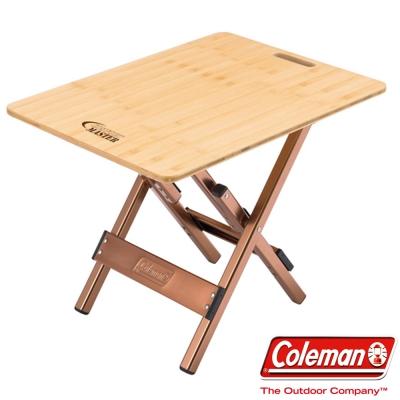 Coleman CM-3123 舒適達人竹邊桌pre 休閒木桌/露營桌/野餐桌