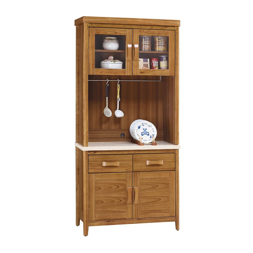 H&D 柚木3尺餐櫃下座 (寬90X深43X高196cm)