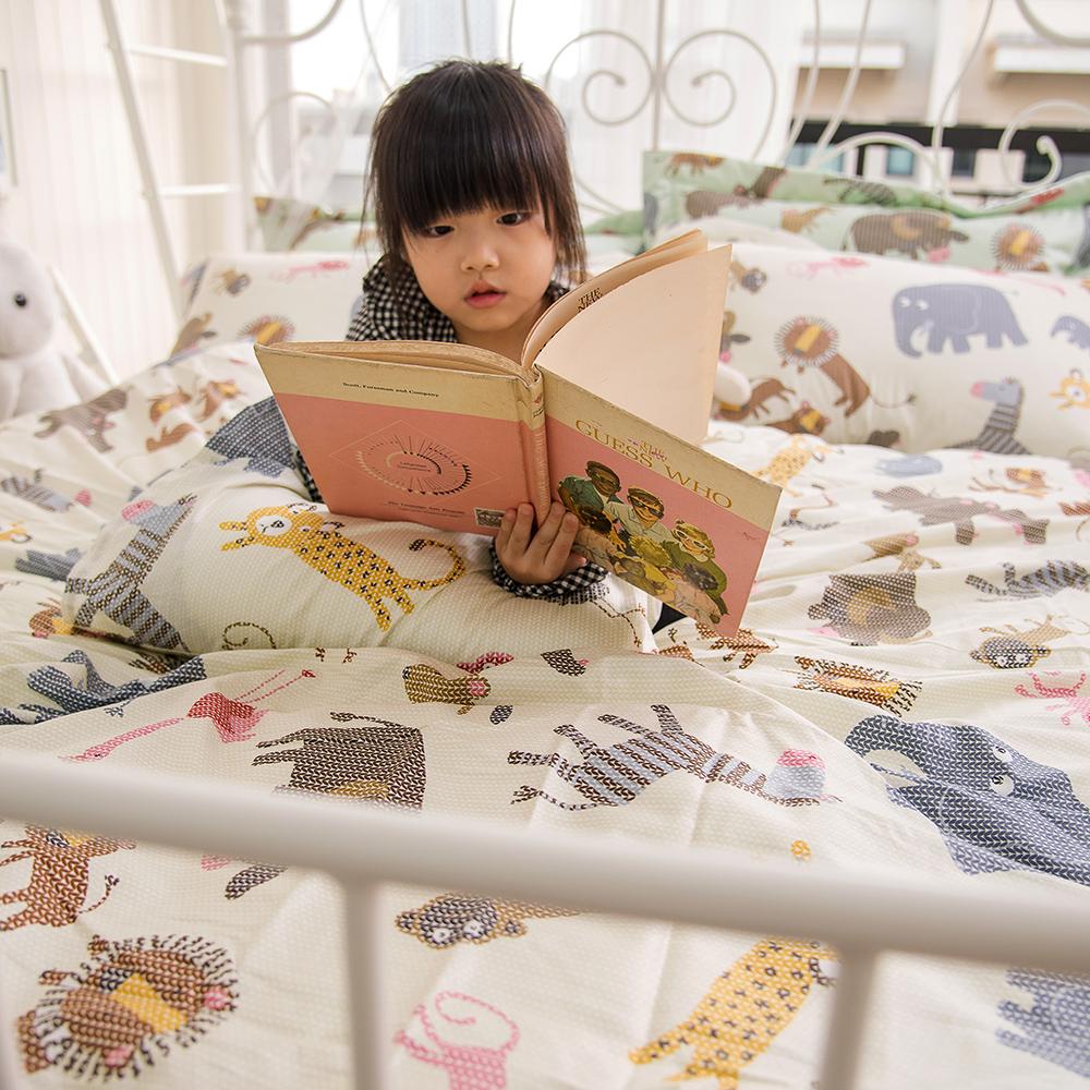 OLIVIA   動物樂園 黃  加大雙人床包枕套三件組