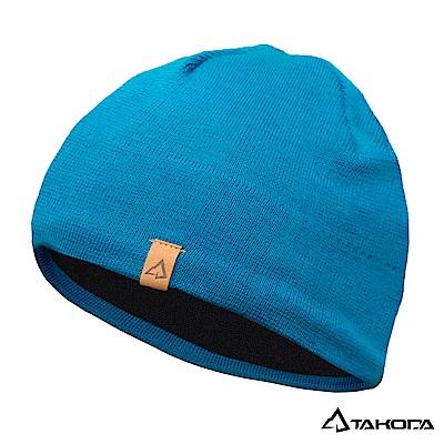 TAKODA 戶外登山運動 針織羊毛混紡彈力毛帽 (湖綠色)