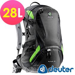 【ATUNAS 歐都納】德國原廠deuter28L網架直立式透氣背包 34214 黑綠