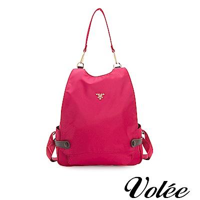 Volee飛行包 - 趣旅行菱形筆電後背包-美國紅