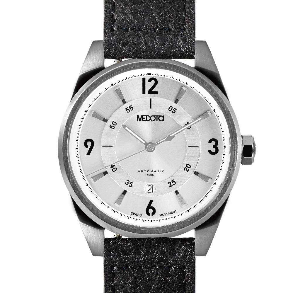 MEDOTA Grancey 伊頓系列 奢華時尚腕錶-銀框/白面/數字標/48mm