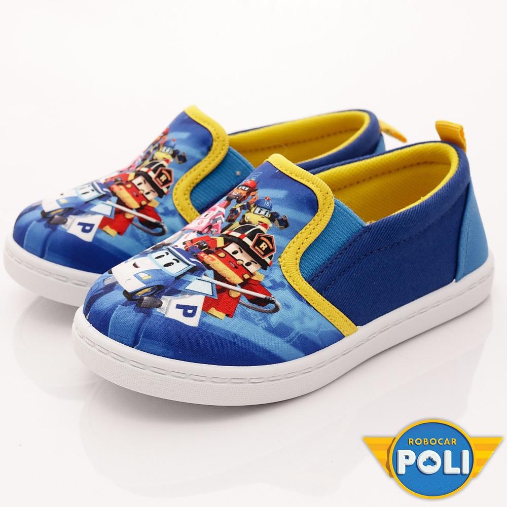 POLI童鞋 輕量休閒款 EI1626 藍黃 (中小童段)