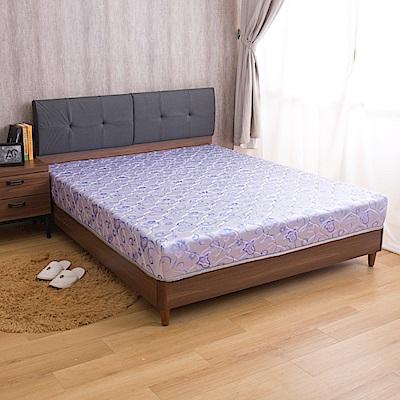 璐易絲系列 透氣升級款-歐式緹花抗菌透氣強化紓壓雙人5尺彈簧床墊