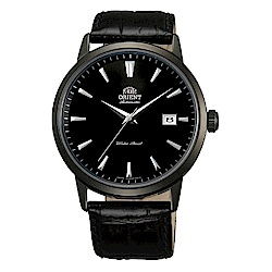 ORIENT 當代時尚黑鋼自動上鍊機械腕錶(FER2