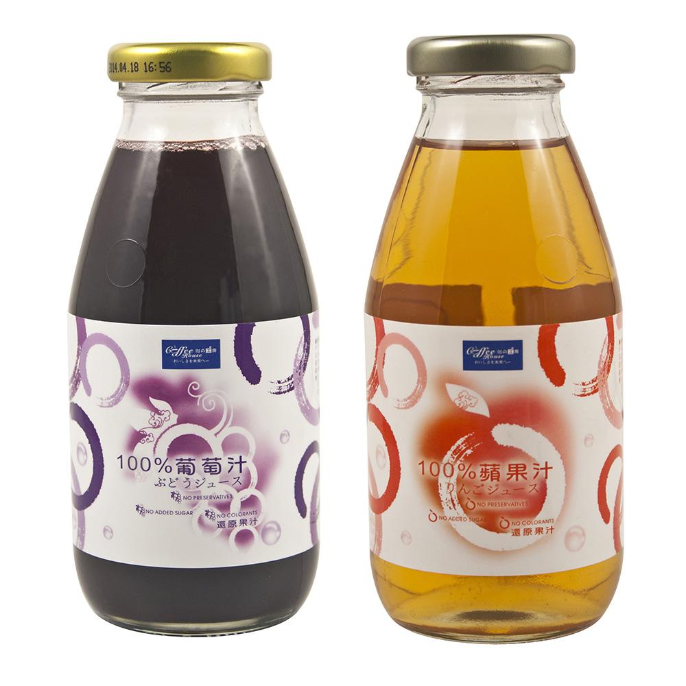 珈的工房 100%蘋果汁+葡萄汁 (300ml 各12入)