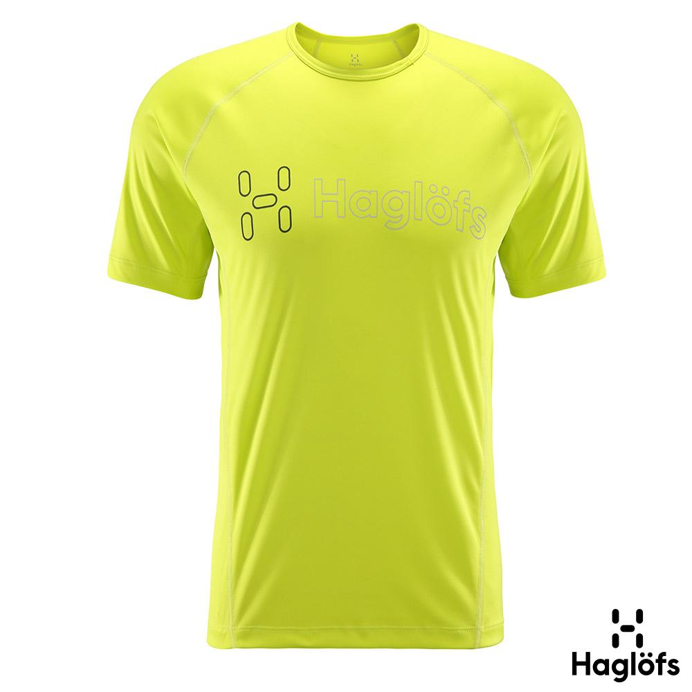 Haglofs 男 Fast Graphic 咖啡紗抗臭短袖T恤 星塵黃色