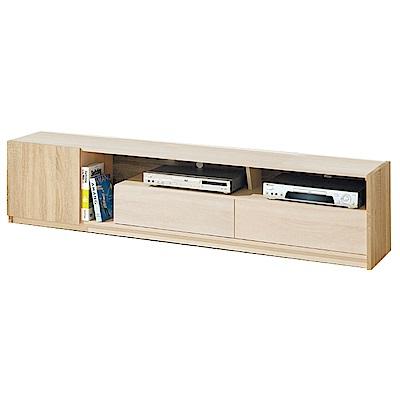 品家居 奧格斯6尺橡木紋長櫃/電視櫃-180x40x44cm免組