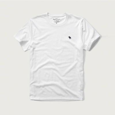 A&F 經典電繡麋鹿圓領短袖T恤-白色 AF Abercrombie