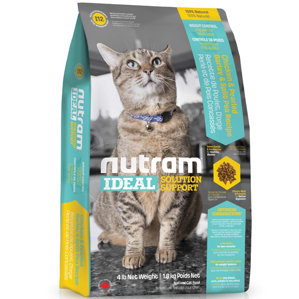 【NUTRAM】紐頓I12體重控制全齡貓(雞肉+豌豆)15lb/6.8kg