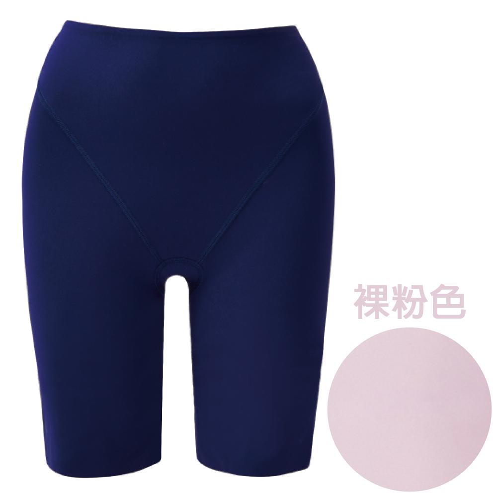 思薇爾 舒曼曲現系列64-82素面高腰長筒束褲(裸粉色)