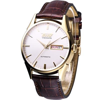 TISSOT Visodate 1957 經典復刻版機械錶(T0194303603101)