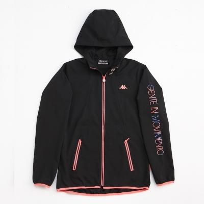 KAPPA義大利 女吸濕排汗速乾單層風衣外套~黑