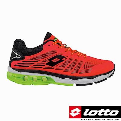 LOTTO 義大利 男 PHOENIX KPU 氣墊跑鞋 (紅)