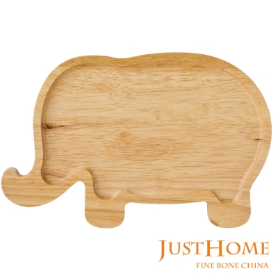 Just Home 大象造型橡膠木餐盤(台灣製)
