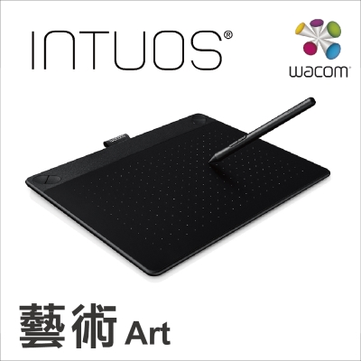 Wacom Intuos Art 藝術創意觸控繪圖板-經典黑(中)