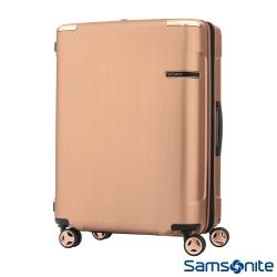 Samsonite新秀麗28吋 Evoa 拉絲光澤防盜拉鍊抗震輪TSA硬殼行李箱(玫瑰金)