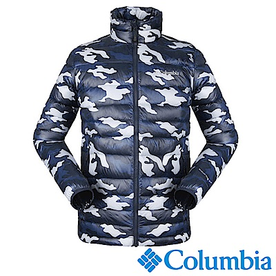 Columbia哥倫比亞 男款-OH700迷彩羽絨夾克-藍色 UPM54960UC