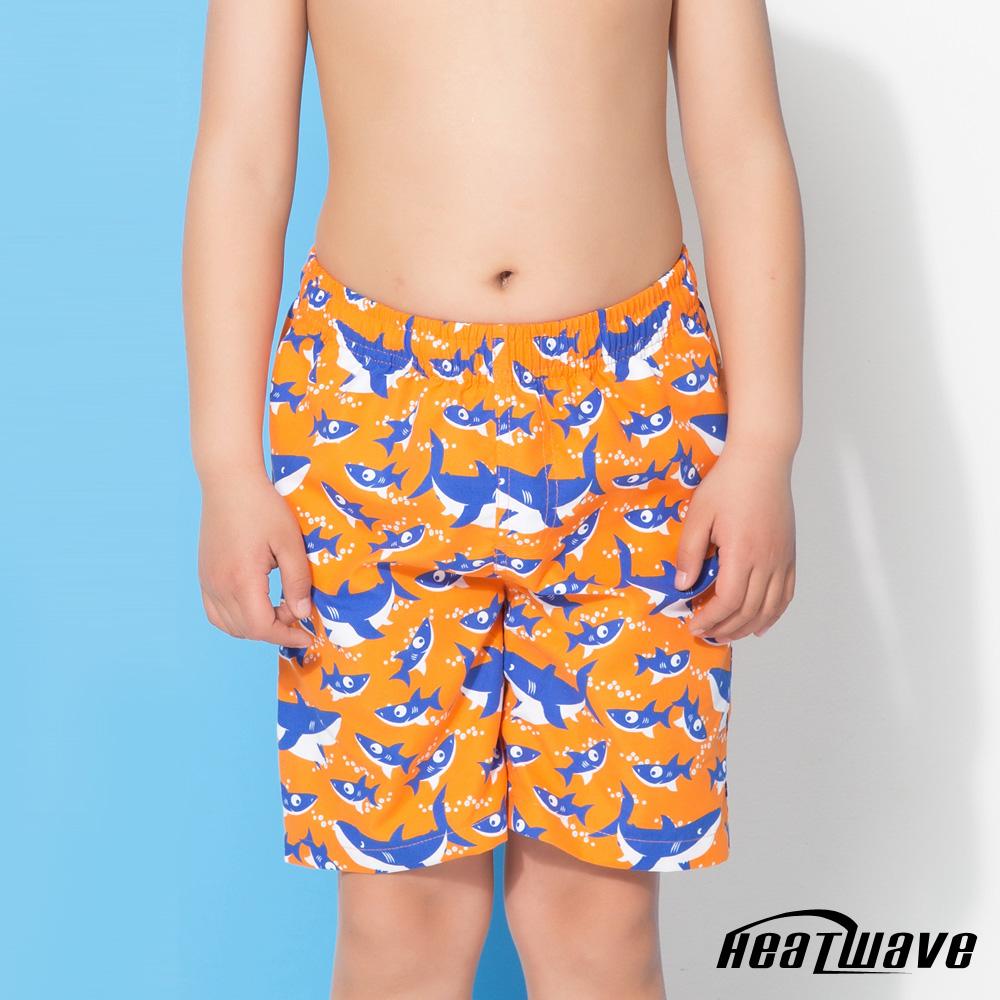 Heatwave熱浪 童海灘褲-活力橘鯊