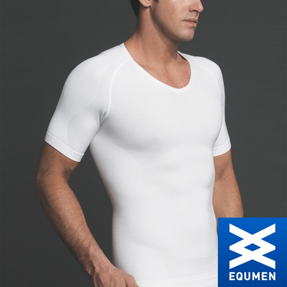 EQUMEN 精緻型男塑身衣-短袖[白]