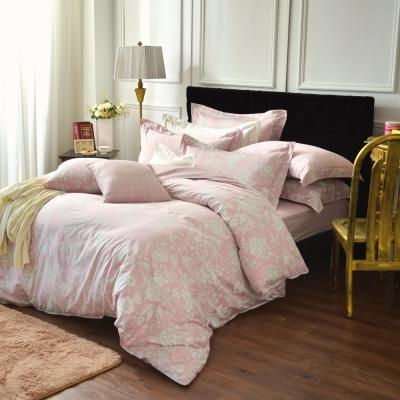 IN HOUSE-Begonia(pink)-300織精梳棉四件薄被套床包組(雙人)