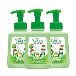 綠的GREEN 抗菌潔手慕斯-草原泡泡(500ml*3入特惠組)