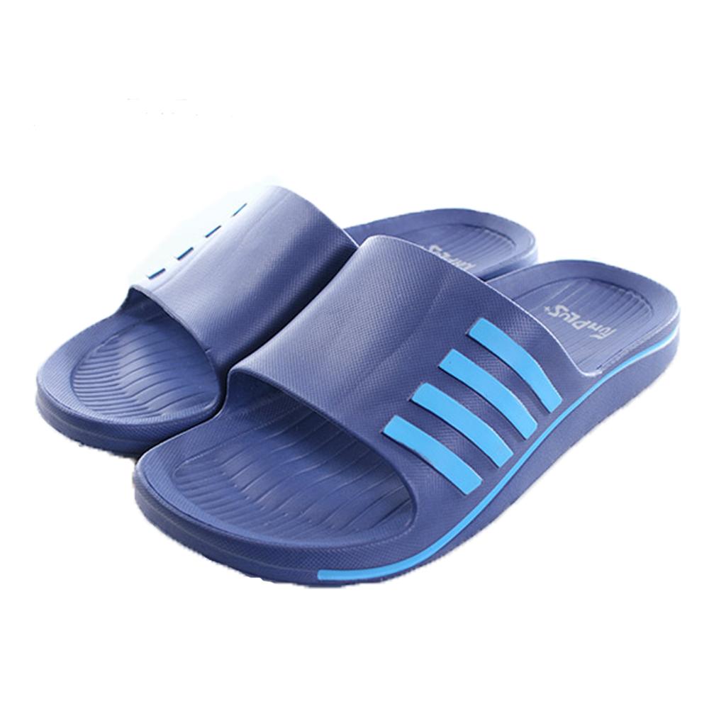 軟Q止滑室外拖鞋 藍 sd0121 魔法Baby