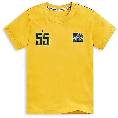 101原創 世足限定T-巴西短袖T恤上衣-橙黃