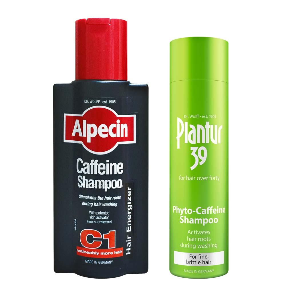 Alpecin 咖啡因洗髮露+Plantur39 植物與咖啡因洗髮露 細軟及脆弱髮質